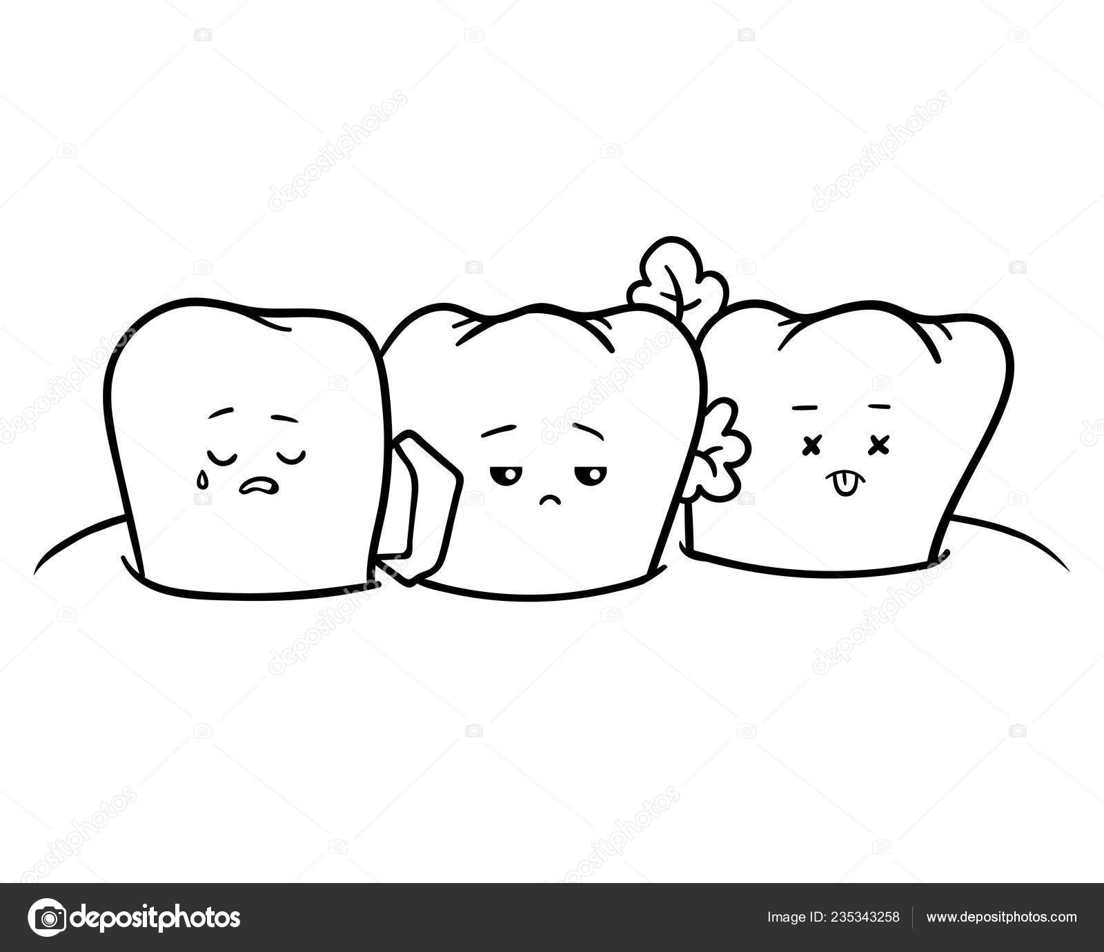 Coloring Book Children Dirty Teeth — Stock Vector © ksenya_savva ...