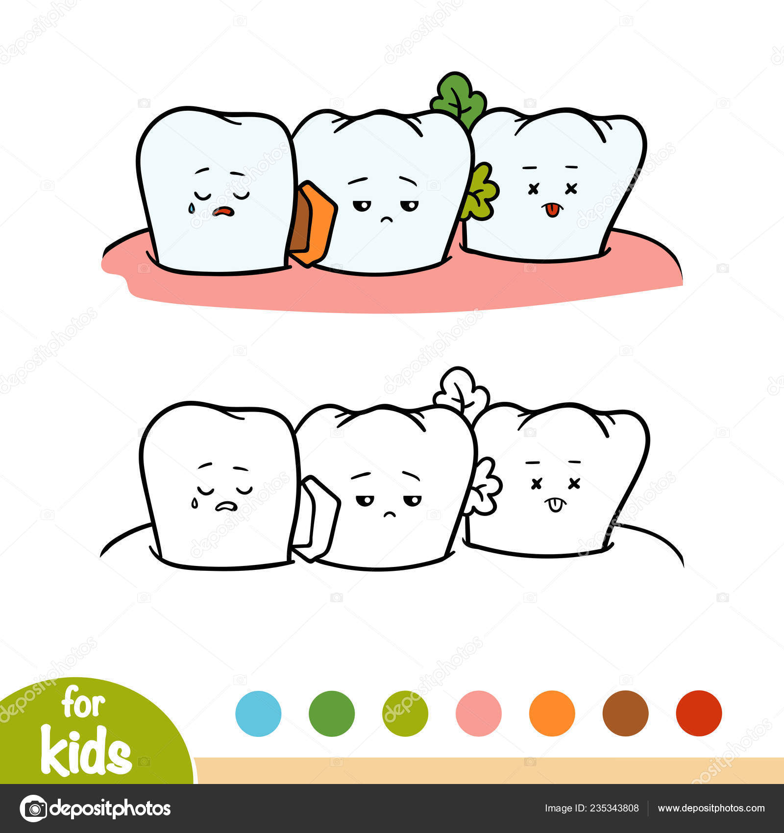 Coloring Book Children Dirty Tooth — Stock Vector © ksenya_savva ...