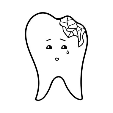 Coloring book for children, Chipped tooth