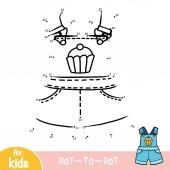 Fényképek Numbers game, education dot to dot game, Kids dungarees shorts