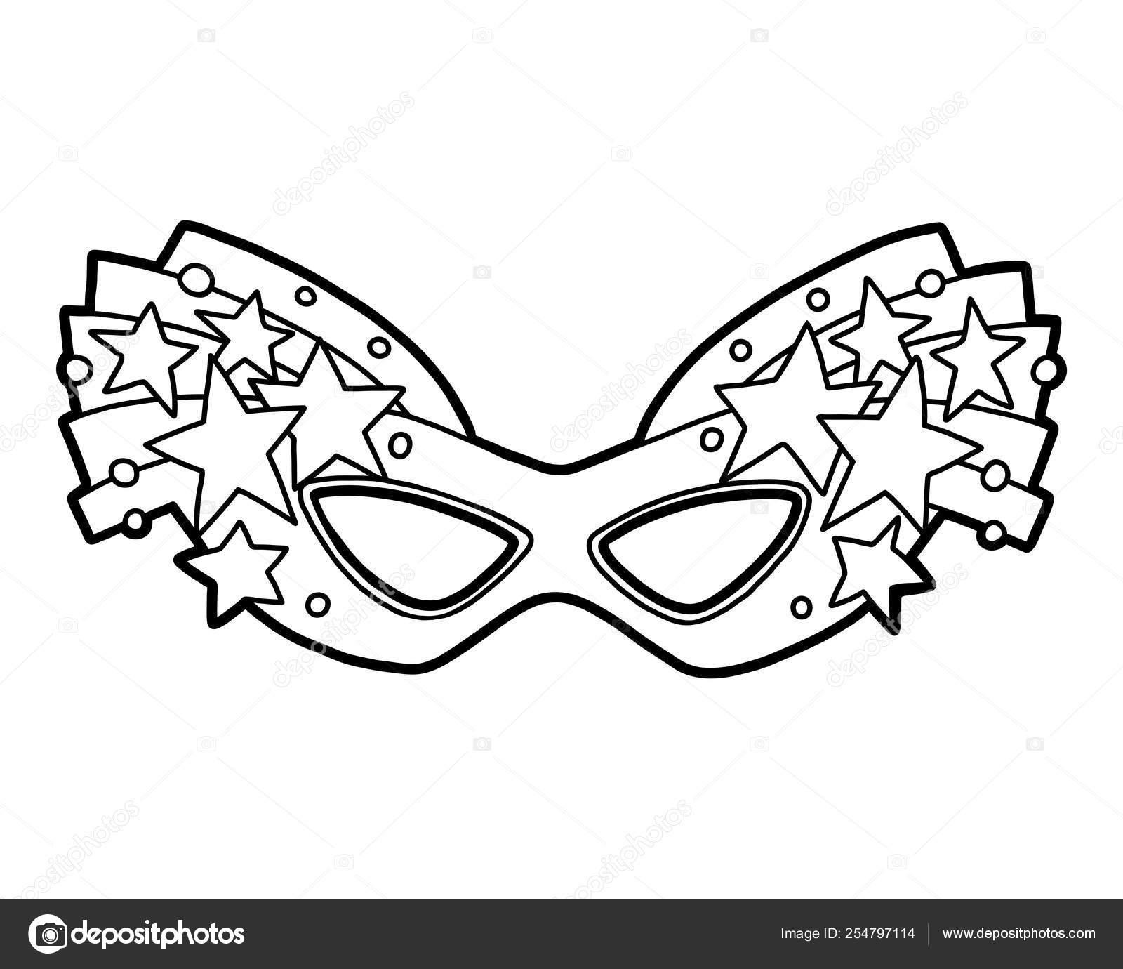 prezzo limitato prezzo più basso con bambino Libro da colorare, mascherina di carnevale con stelle ...