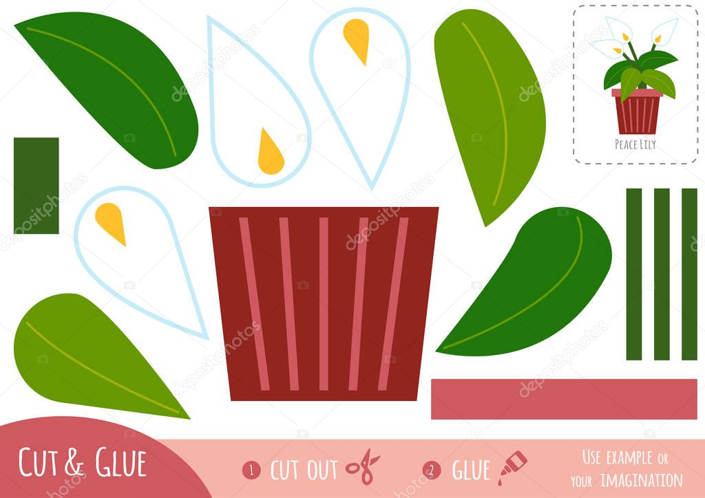 Education paper game for children, Peace Lily
