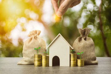 Saving money, home loan, mortgage, a property investment for fut