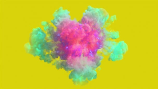 Barevný kouř exploze v rozlišení 4k. Video ve vysoké kvalitě barevné kouře výbuchu v rozlišení 4k