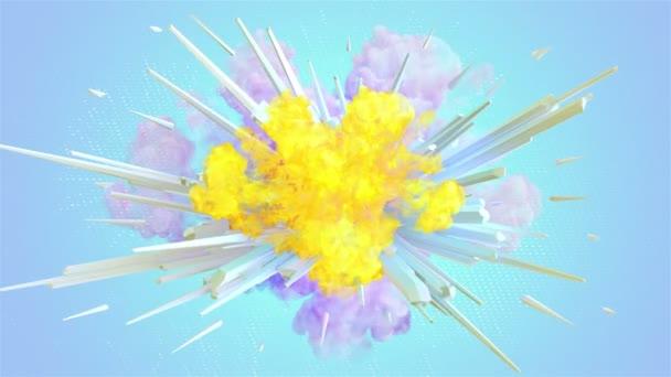 Barevný kouř exploze v rozlišení 4k. Video ve vysoké kvalitě barevné kouře výbuch boom v rozlišení 4k
