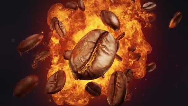 Explosion gerösteter Kaffeebohnen