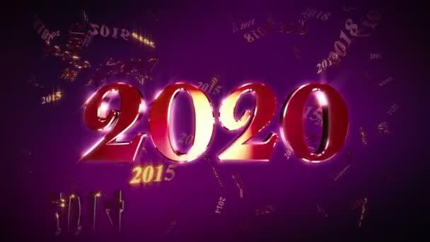 Nový rok 2020 Animace Loopable Background