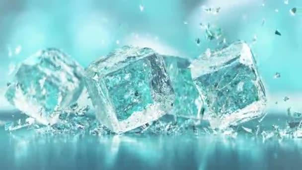 Kiváló minőségű zuhanó jégkockák 4K Super Lassú mozgás