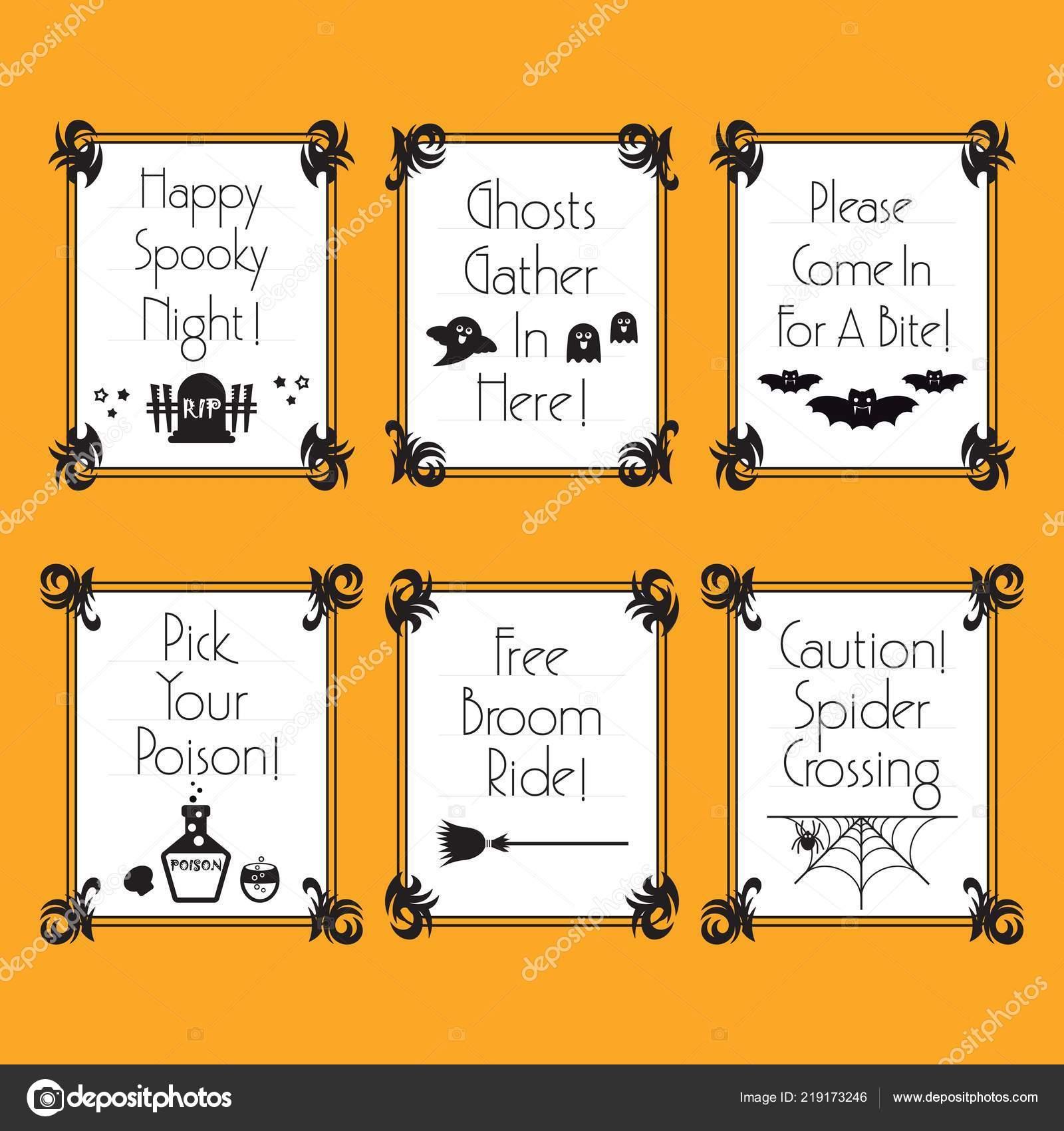 Preto Branco Engraçado Conceitual Halloween Frases Banners Quadros