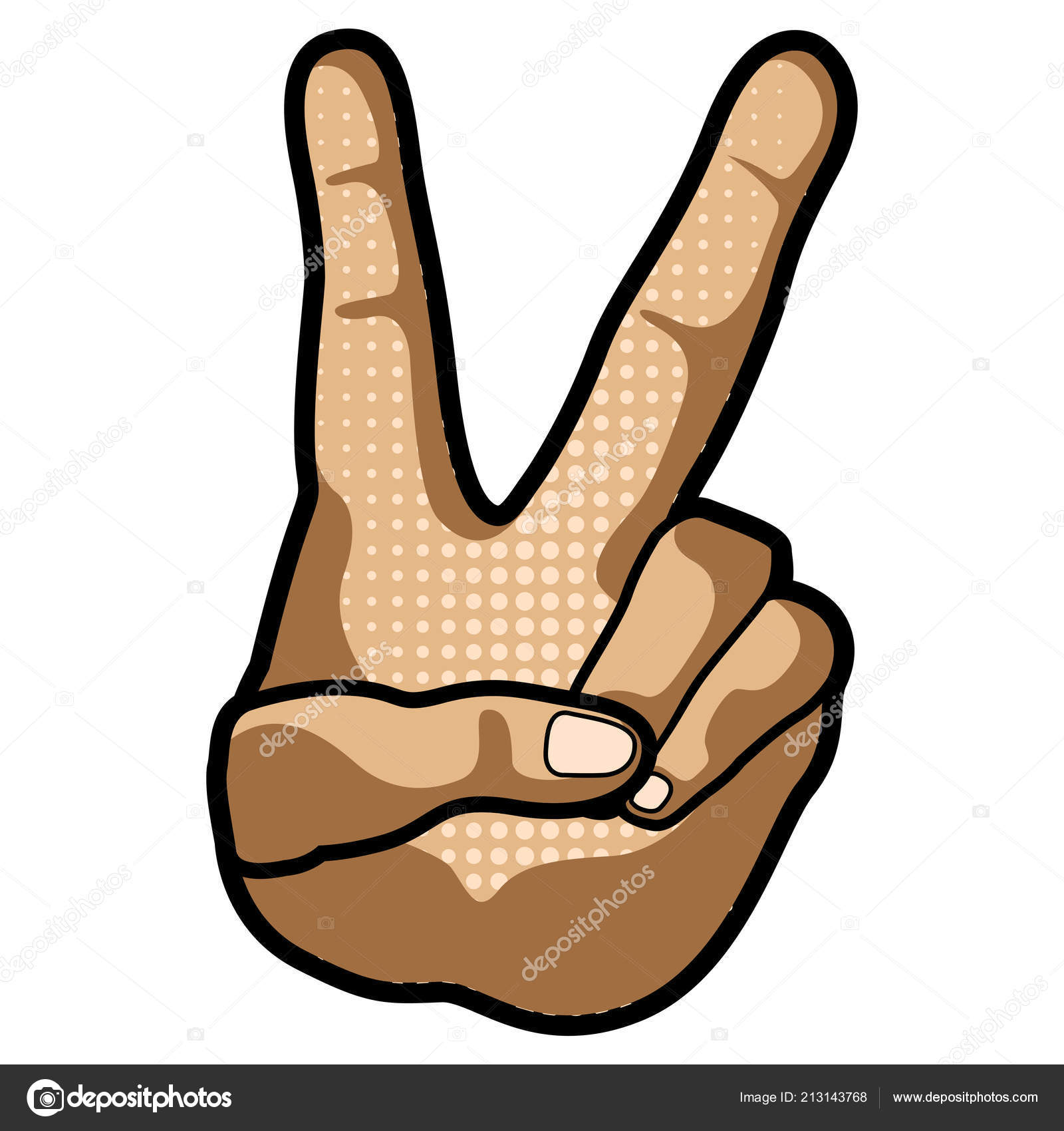 Peace And Love Hand Symbol Laudiseno