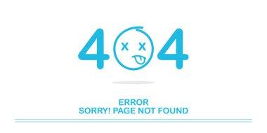 404 error website not found graphic design