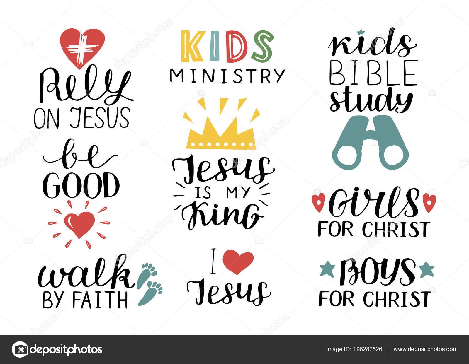 Populair Set van 9 christelijke quotes belettering Jezus is mijn studie van @LK43