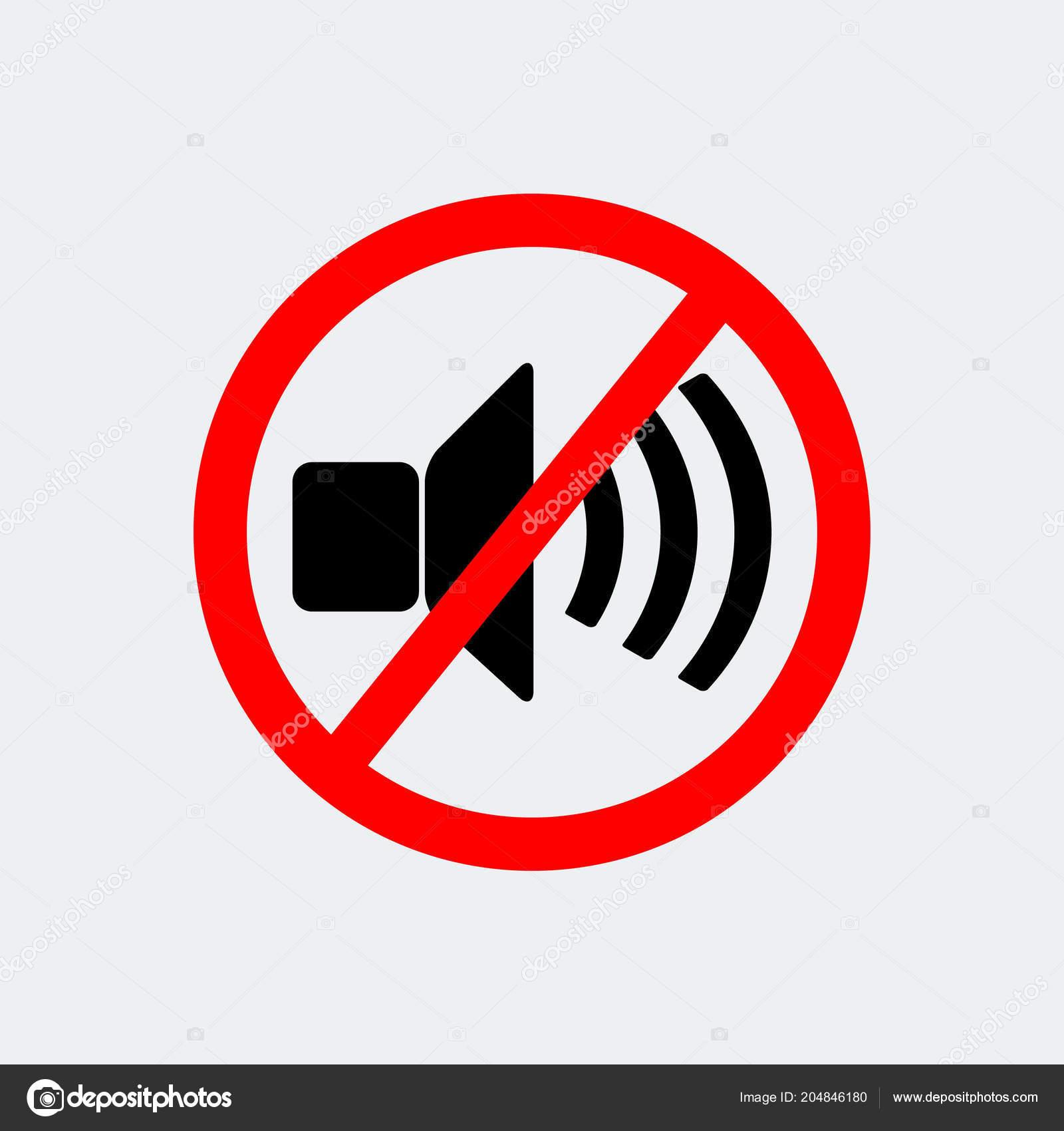 No Loud Music Prohibition Stop Symbol Ctor Illustration