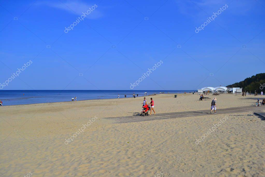 Jurmala, Riga. Baltic Sea And Beach.September 28, 2018