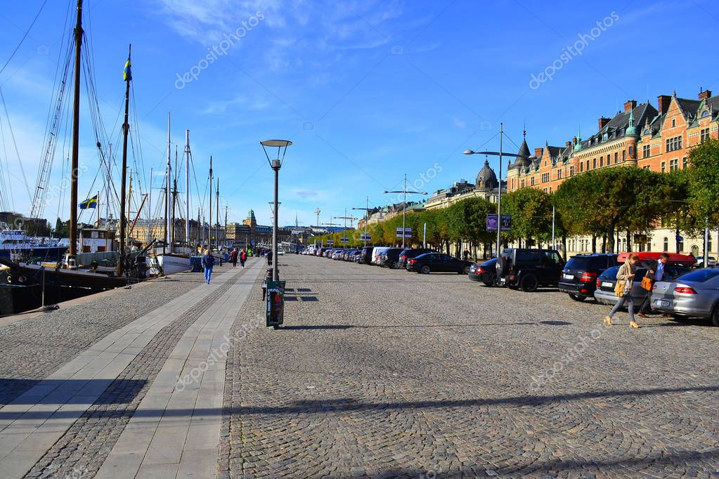 Stockholm,Sweden-September: Scenic autumn scenery of the Old Town