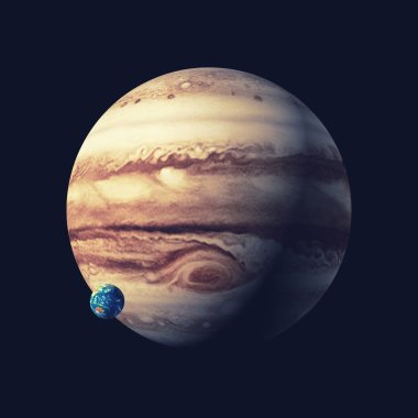 The jupiter planet. This is a 3d render illustration