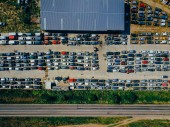 Photo Aerial view of the big car dump