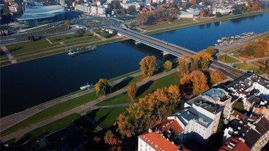 Aerial View of Krakow, Wawel, Royal Castle, Poland,