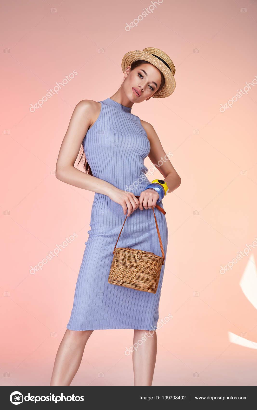 Mujer Morena Sexy Desgaste Skinny Algodón Azul Vestido Seda Verano ...