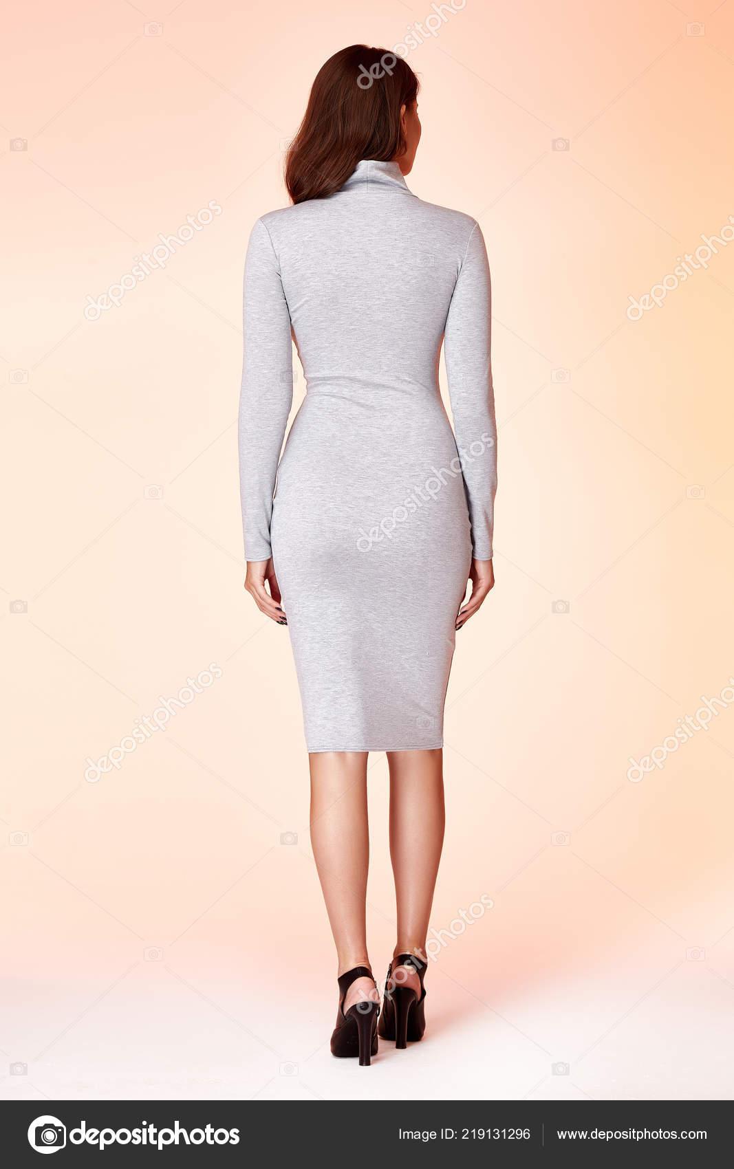 Belle Femme De Mode Avec Les Cheveux Longs Posant En Robe A La Mode Tournage En Studio Isole Photographie Iniraswork C 219131296