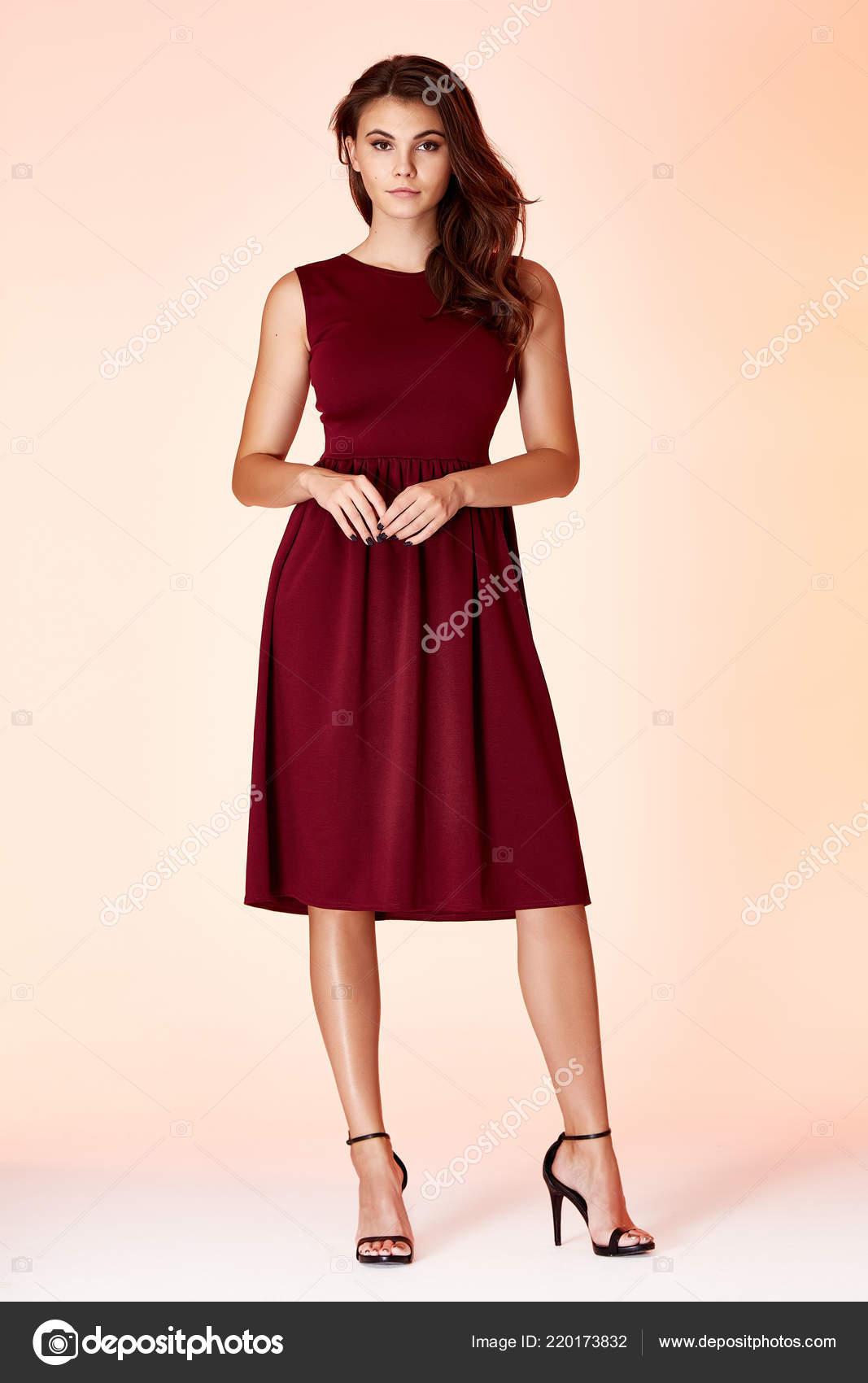Glamour Fashion Woman Long Brunette