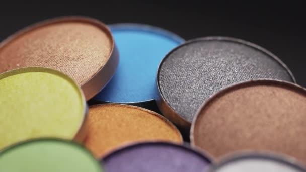 Vícebarevné pestré kompaktní oční stíny paleta kulaté bronzové lesklé dekorativní make-upu kosmetika pro tvář přírodní kůže péče o krásu produkty aids.