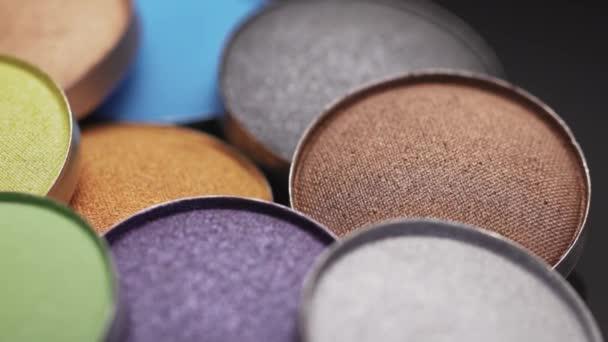 Vícebarevné pestré kompaktní oční stíny paleta kulaté bronzové lesklé dekorativní make-upu kosmetika pro tvář přírodní kůže péče o krásu produkty aids