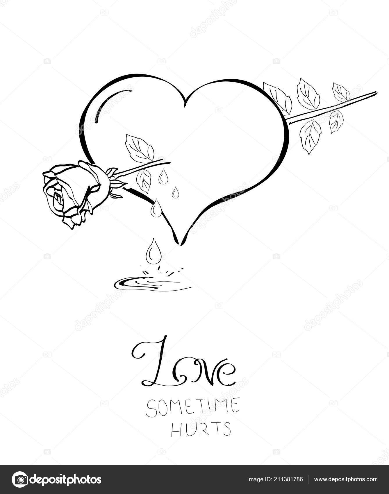 Ilustrace Zlomene Srdce Ruzi Jako Sipka Stock Fotografie C Sidliks