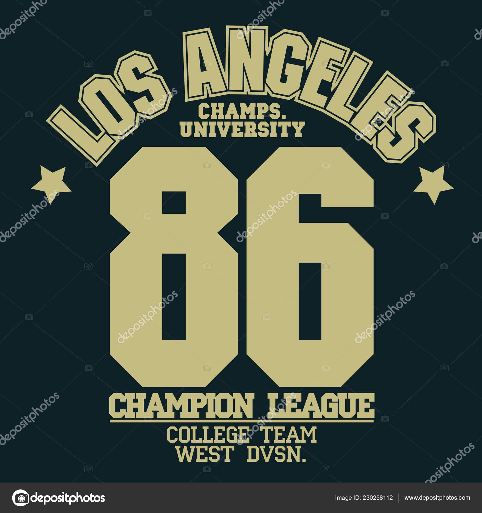 a98bd7ba California sport wear T-shirt design. Los Angeles City Typography Graphics.  emblem, tee print, athletic apparel design. Vector — Vector by  ambassador80| ...