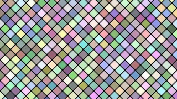 Barevné abstraktní diagonální čtvercové mozaika vzor pozadí - bezešvé smyčka motion grafika