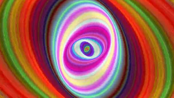 Multicolored abstract ellipse background - seamless loop