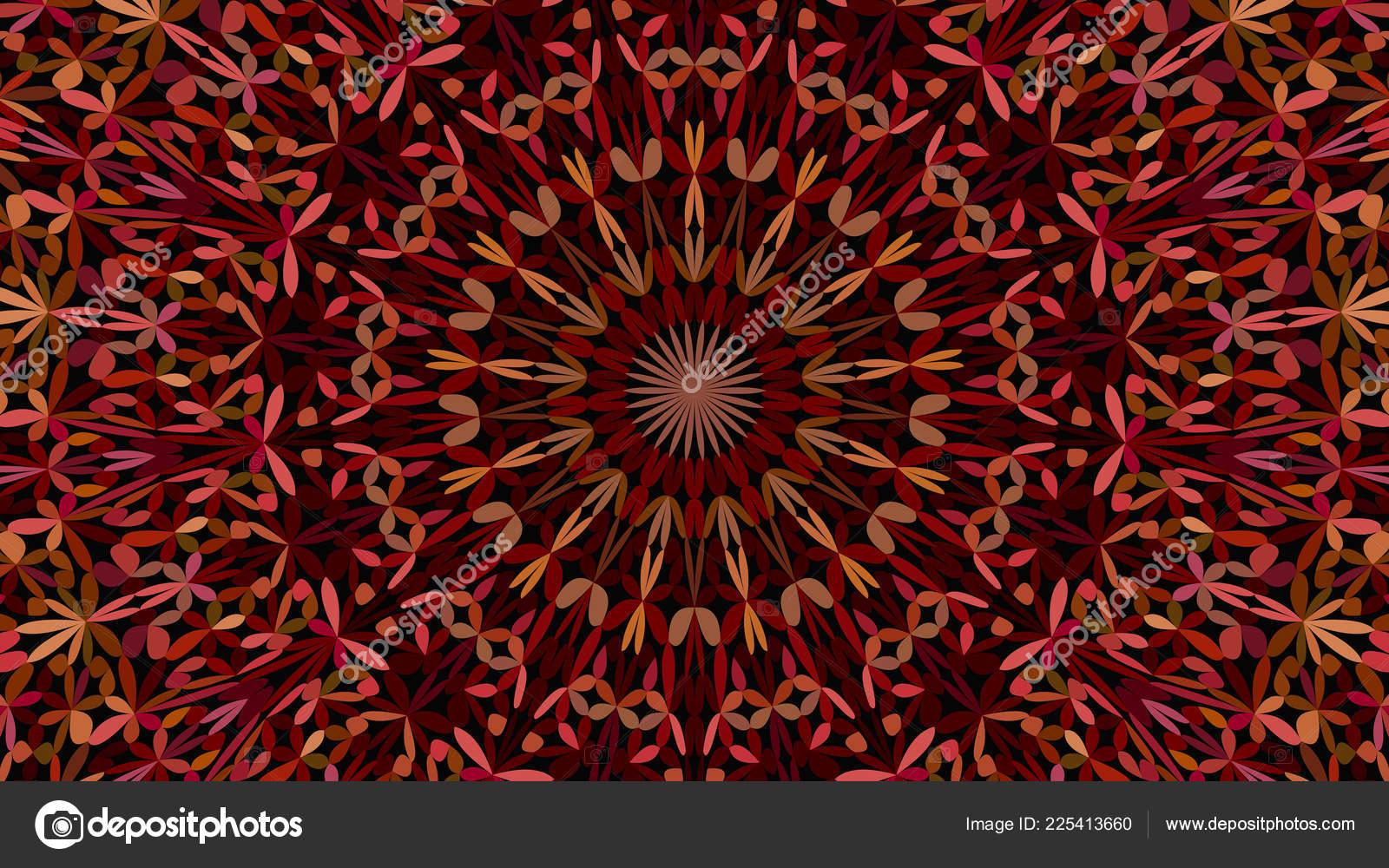 Fondo Colorido Abstracto Floral Jardin Mandala Grafico De Vector