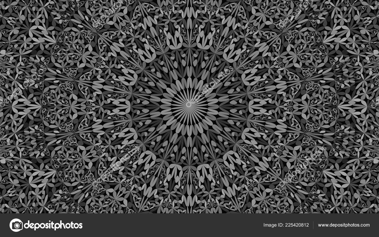 Boho Desktop Backgrounds Grey Abstract Petal Garden Mandala