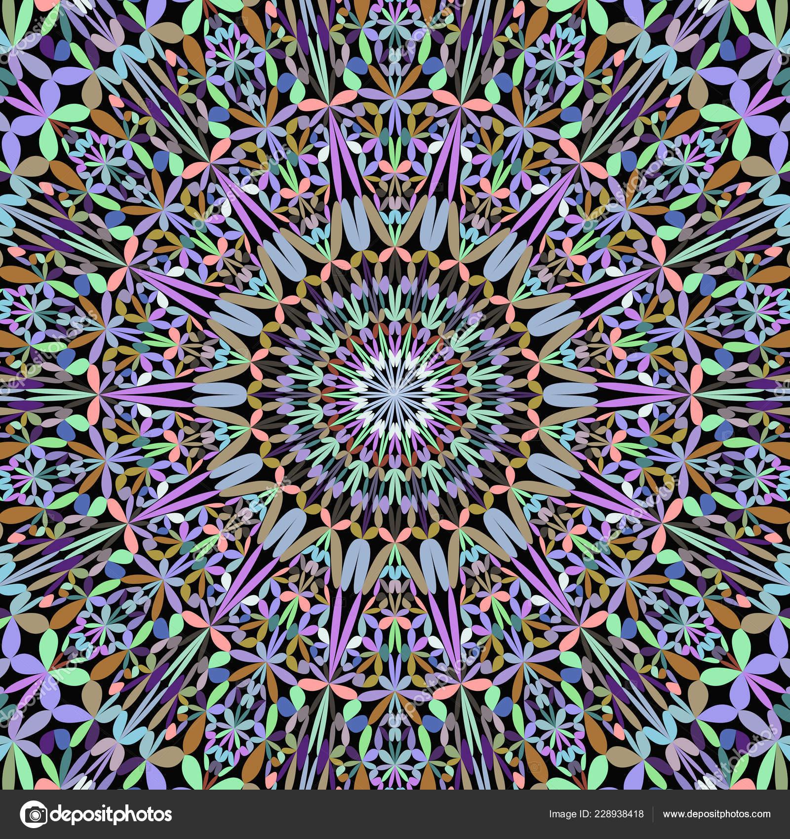 Colorful floral ornate mandala pattern