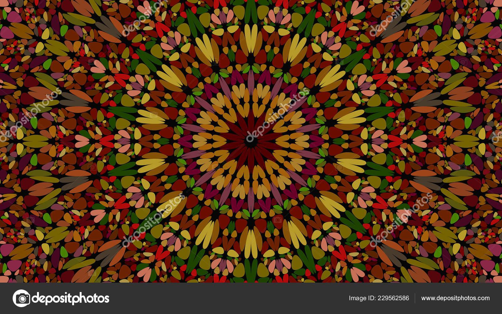 Mandala Desktop Wallpaper Colorful Abstract Floral Kaleidoscope