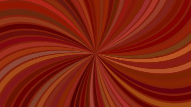 Brown geometrical abstract spiral background with curved striped rays