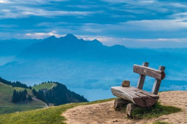 Alps panorama from Rigi Kulm (Summit of Mount Rigi, Queen of the Mountains), canton Schwyz, central Switzerland