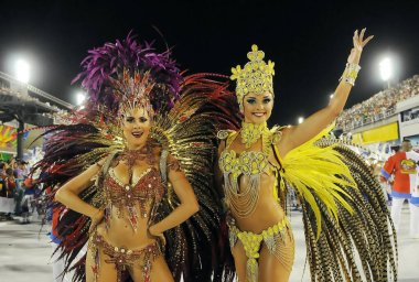 Rio de Janeiro, February 6, 2016. Samba Schools Parade during the Carnival of Rio de Janeiro, considered the largest carnival in the world, in Sambodromo, in the city of Rio de Janeiro, Brazil.