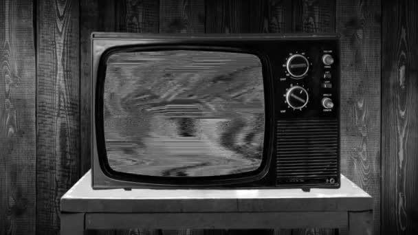 Zoom in on a TV in a retro vintage style. Two different result possibilities, Donald Trump or Joe Biden. Two scenarios. Static tv then face of the winner.