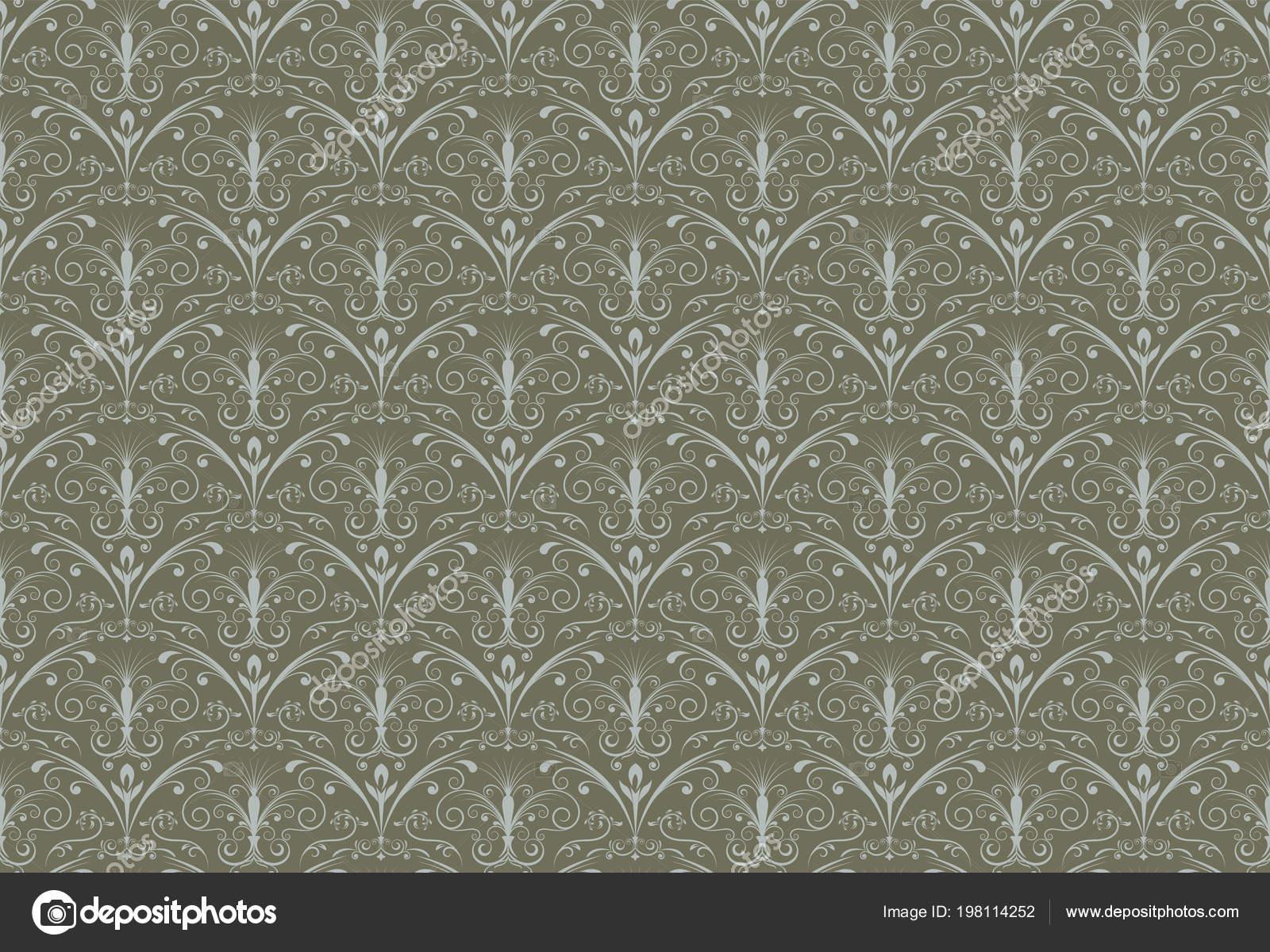 Behang Met Patroon : Retro behang vintage naadloze patroon voor achtergrond patroon