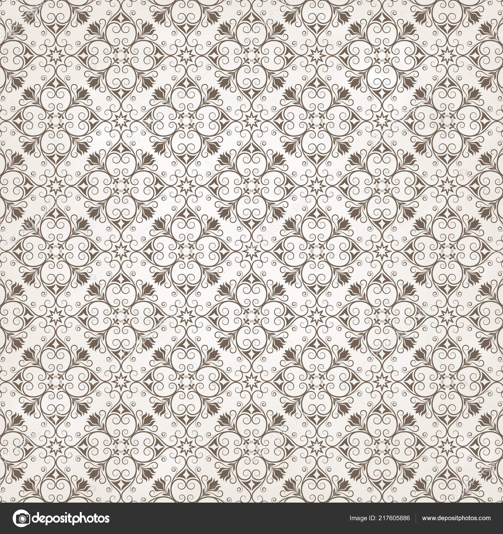 Retro Wallpaper Vintage Seamless Pattern Background Swatches Stock Vector