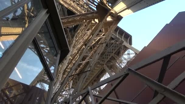 Bottom view of the Eiffel Tower in Paris