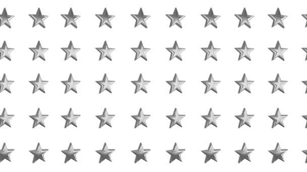 Hvězdy rotující animace 3d pozadí bezešvé smyčky