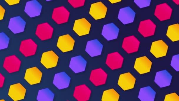 Seamless loop hexagon pattern background