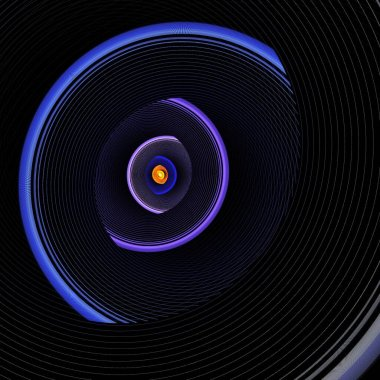 abstract background with a round speaker