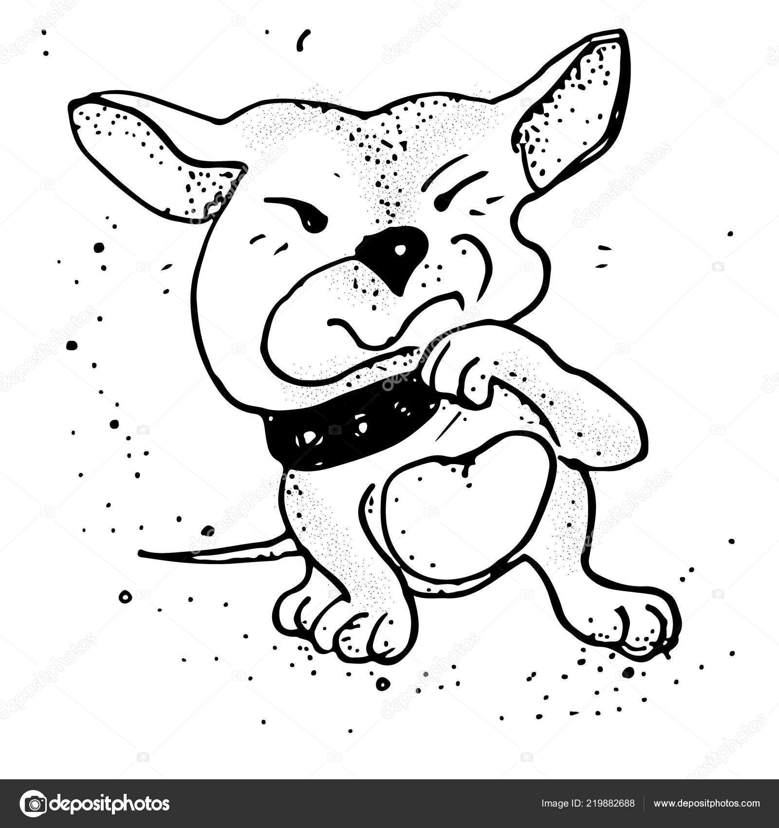 Upset Dog Puppy Emoji Cartoon Illustration Isolated Stock Vector