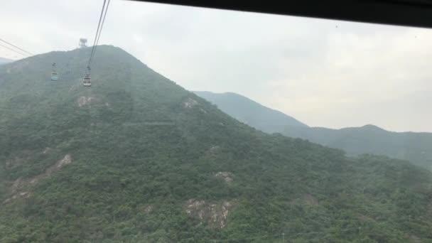 Hong Kong, Kína, egy tábla a hegy oldalán.