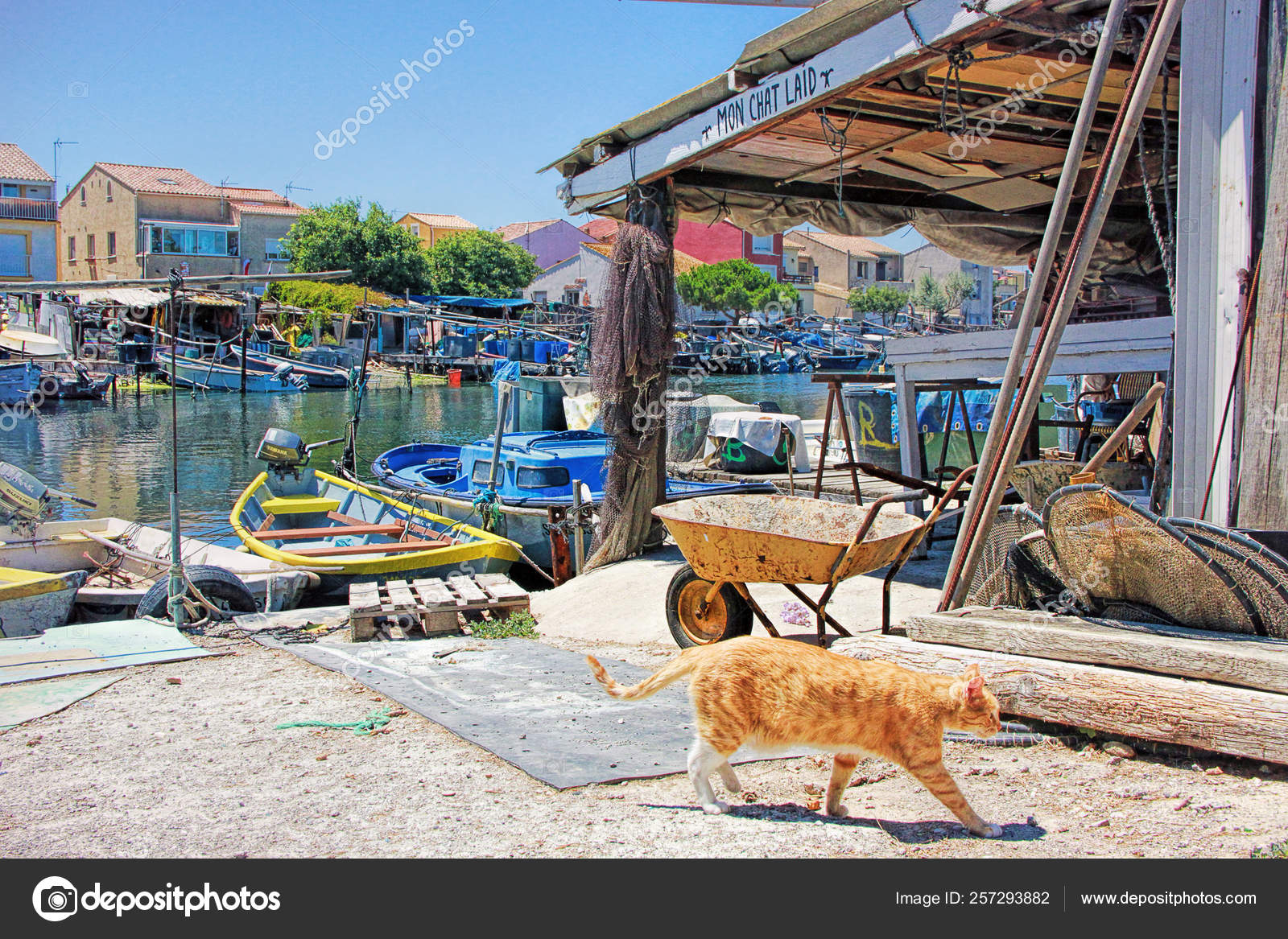 Fishermen's district of Sete, France – Stock Editorial Photo