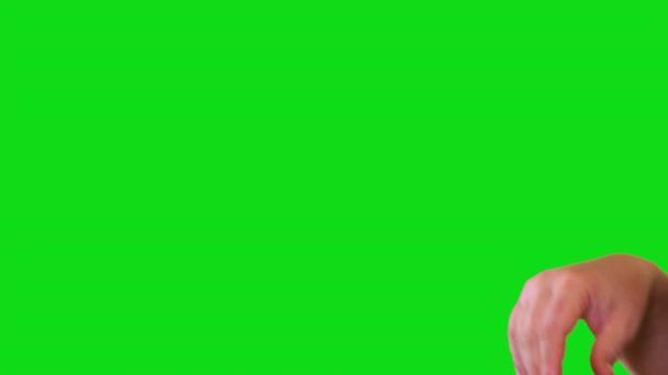 Ženská cedule přejít přes zelenou obrazovku
