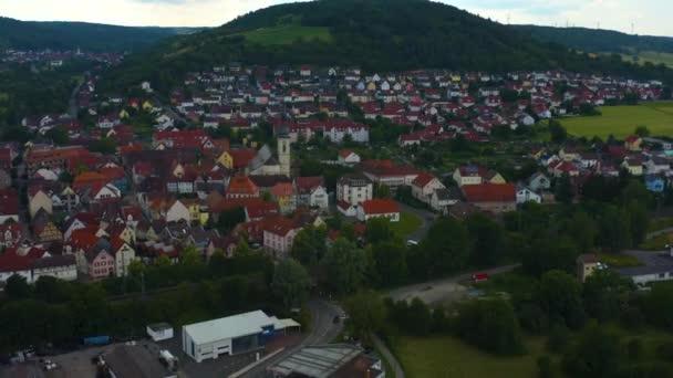 Luftaufnahme aus der Altstadt von Lauda-Königshofen in Deutschland.